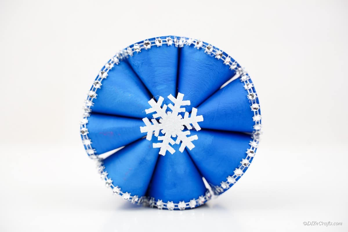 completed blue Christmas craft