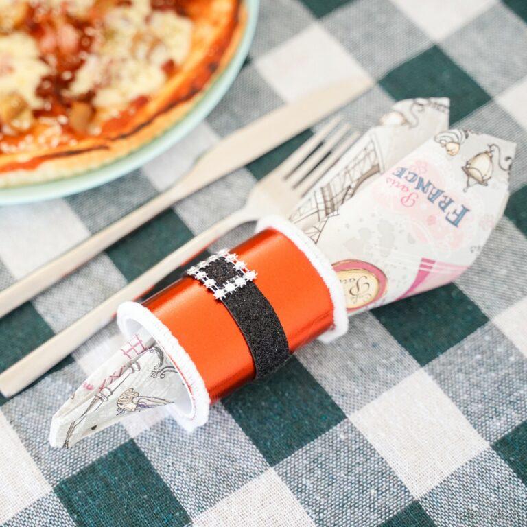 Festive DIY Santa Napkin Ring