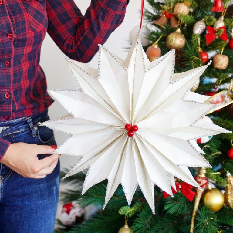 Beautiful Gigantic Paper Bag Star Decoration