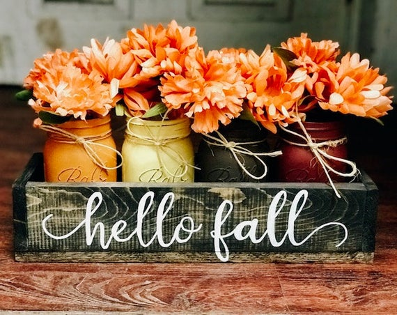 Fall Decoration Mason Jar Fall Decor Mason Jar Decor | Etsy