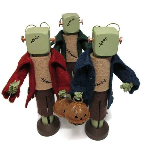 Frankenstein's Monster Ornament Clothespin Ornament | Etsy