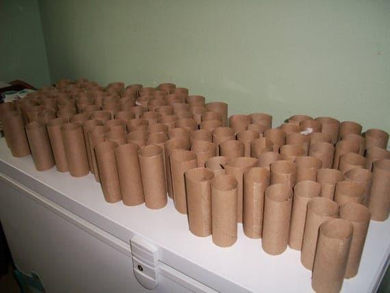 Empty toilet paper rolls. 25 | Etsy