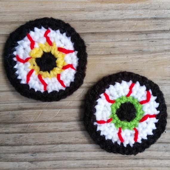 Bloodshot Eyeball Crochet Pattern Crochet Applique Pattern | Etsy