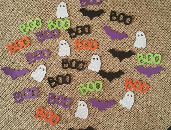 100 Pieces Halloween Confetti Bat Confetti Ghost Confetti | Etsy