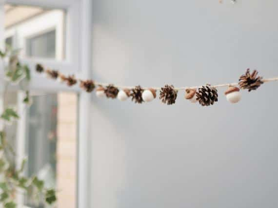 Winter garland Christmas decoration Natural decor Pine cones   Etsy