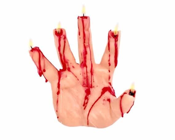 Bleeding Hand Candle Halloween Decor Halloween Candles | Etsy