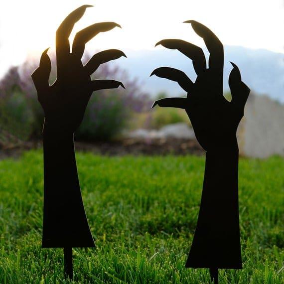 Pair of Creepy Hands Halloween Yard Art Funny Halloween | Etsy