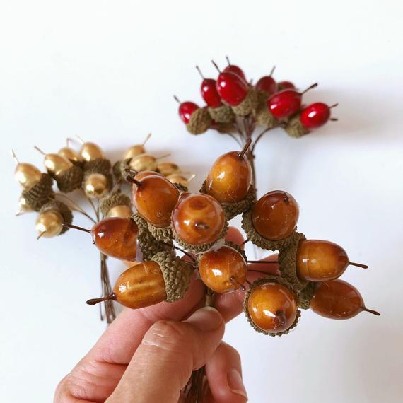 Artificial acorns Fall decors Autumn decoration Faux   Etsy