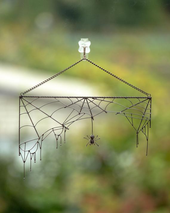 Halloween spider web decor Halloween gift horror decor | Etsy