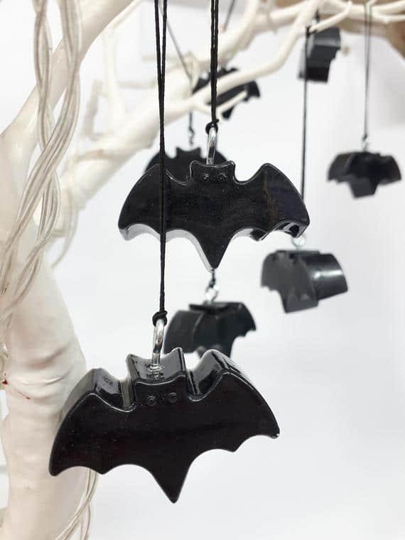 Bat Decoration Hanging Bats Halloween Decor | Etsy