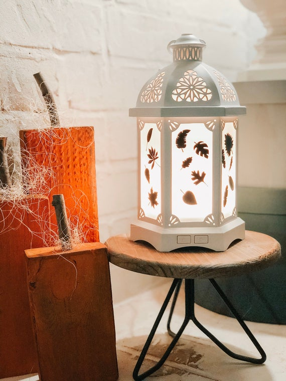 Lantern Diffuser set of 14 various Fall Leaves Vinyl Decal | Etsy