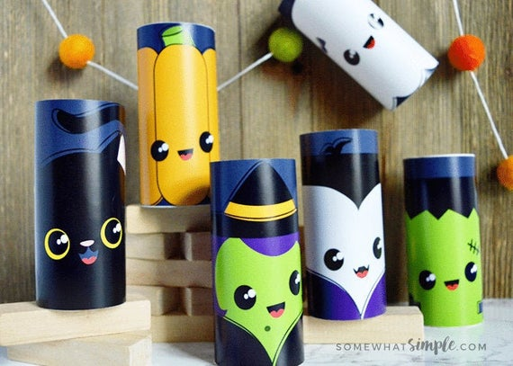 Halloween Toilet Paper Roll Craft Printable | Etsy