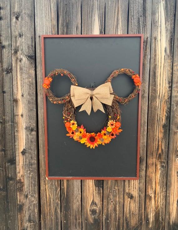 Fall Mickey Wreath | Etsy