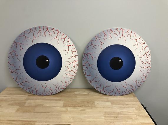Giant Halloween Eyes. Bloodshot jumbo eyeballs. | Etsy