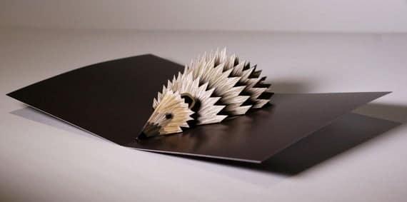Hedgehog Pop-up card   Etsy