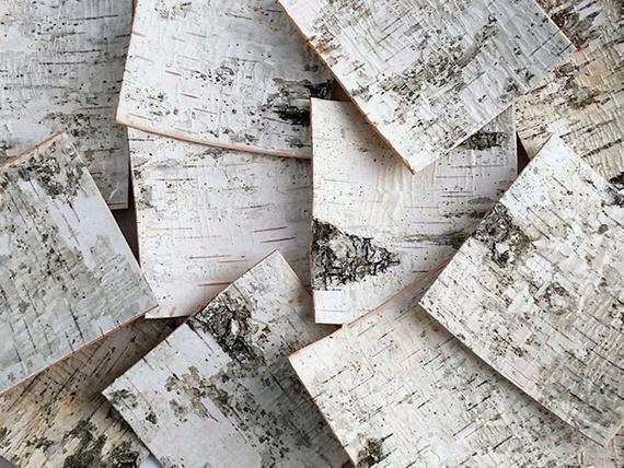 30 Birch Bark Sheets. Birch Bark Decor.Birch Sheets Craft. | Etsy