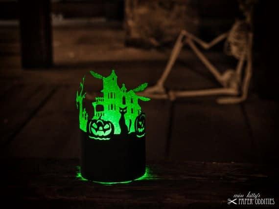 Construction paper Halloween lantern | Etsy