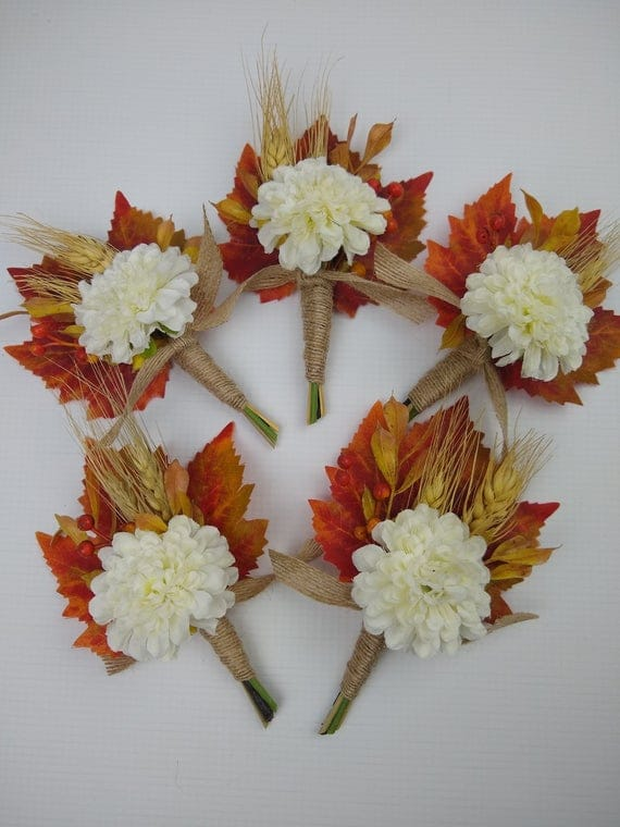Fall leaf boutonniere fall boutonniere faux boutonniere   Etsy