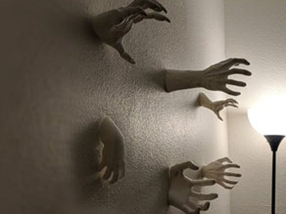 Scary Reaching Hands Wall Mountable Horror New Sizes and   Etsy