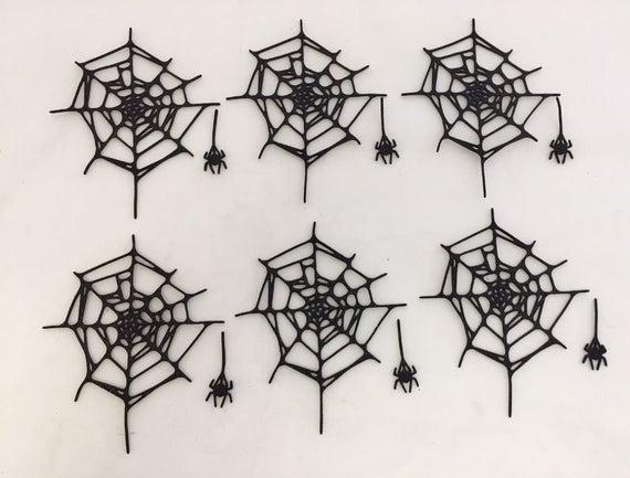 Tim Holtz Halloween Die Cuts Glitter Foam Spider Web and | Etsy