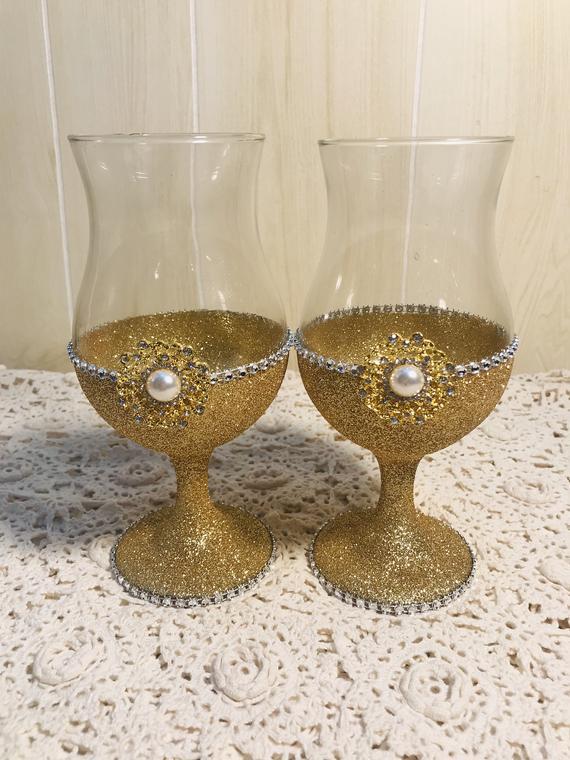 Wine Glasses Glass Home Decor Wedding Wine Glasses Home | Etsy