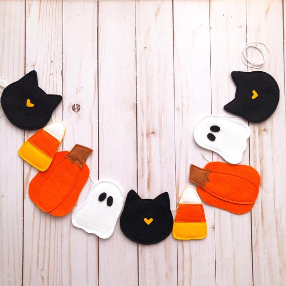 PREORDER Halloween Garland Halloween Bunting Halloween | Etsy
