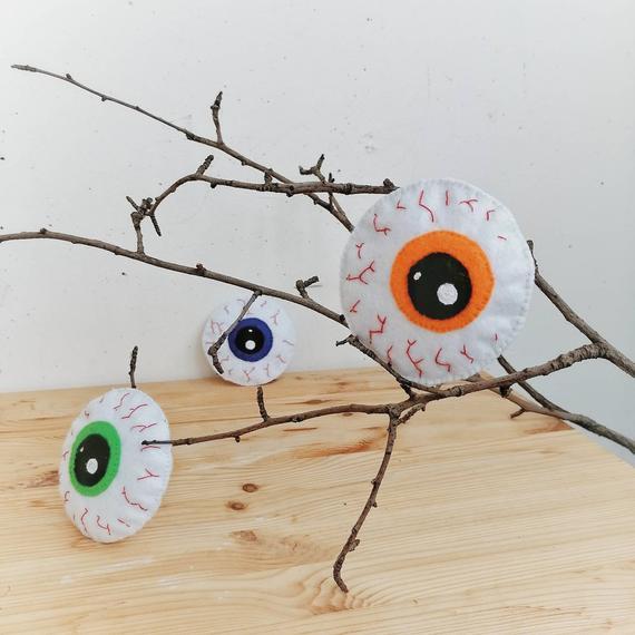 Halloween Decorations Eyeball Zombie Bloodshot Creepy Cute | Etsy