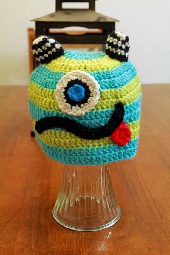 Crochet Monster hat | Etsy