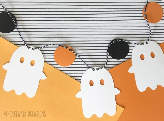 Ghost Garland Boo Banner Halloween Ghosts Halloween Decor | Etsy