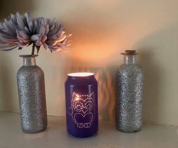 Owl Tin Can Lantern | Etsy