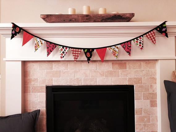 Trick-or-Treat / Medium Fabric Bunting Banner / Halloween / | Etsy