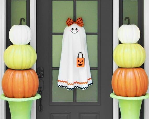 Halloween Wreath Ghost Wreath Halloween Party Decor | Etsy