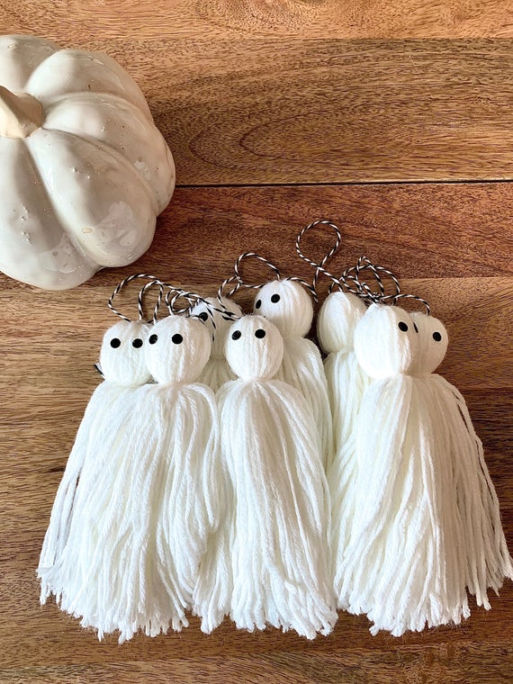 Cute little Ghosts Tassel Banner / Garland Perfect for a | Etsy
