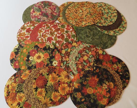 Fall/Autumn 11 Circular Placemat/Centerpiece Reversible | Etsy