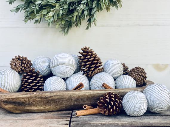 Fall and Winter Bowl Filler Vase Filler Decorative Balls   Etsy