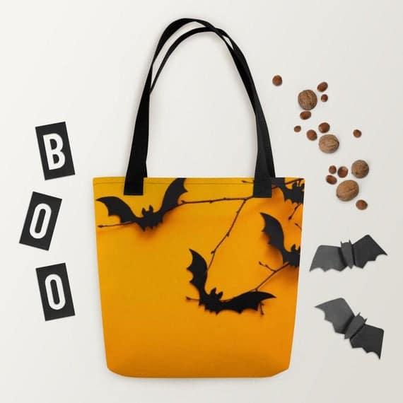 BAT HALLOWEEN Tote bag halloween bag gift for her | Etsy