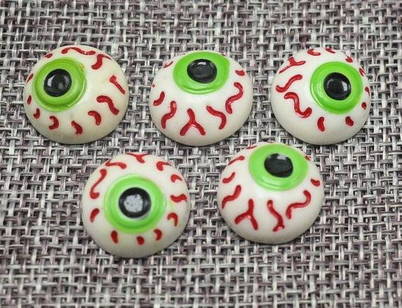Eyeball Cabochons Resin Eyeball Cabochons Flat back Eyeball | Etsy