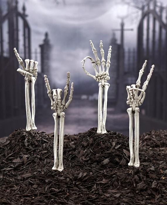 Skeleton Hand Stakes Outdoor Halloween Decorations Halloween | Etsy