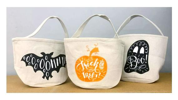 Halloween Bucket Personalized Candy Trick or Treat Kids   Etsy