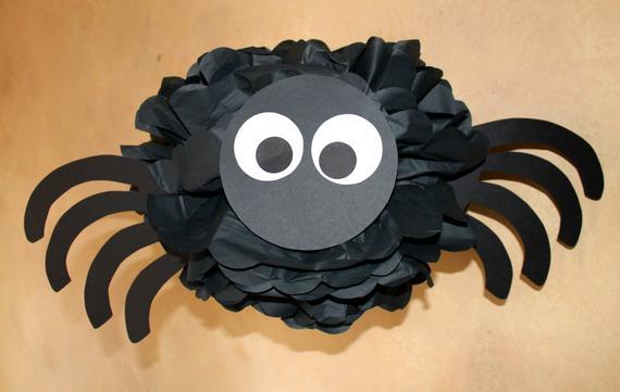 Spider pom pom kit baby shower first birthday party decoration | Etsy