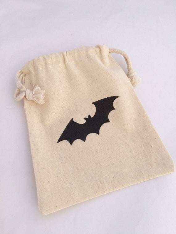 Bat Party Favor Bag: Black Bat Favor Bags Batman Favor Bag | Etsy