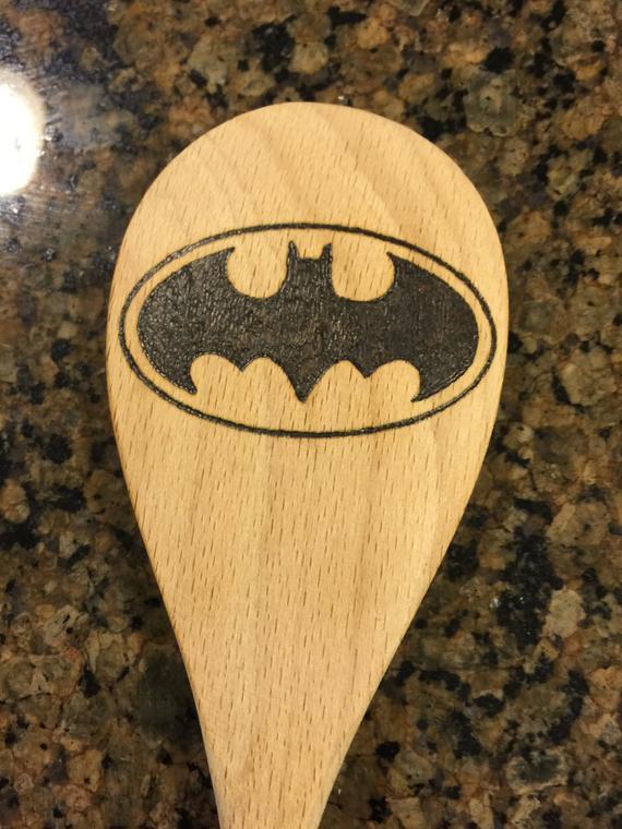 SALE Batman Wood Burned Spoon / Batman Gift / Superhero / | Etsy