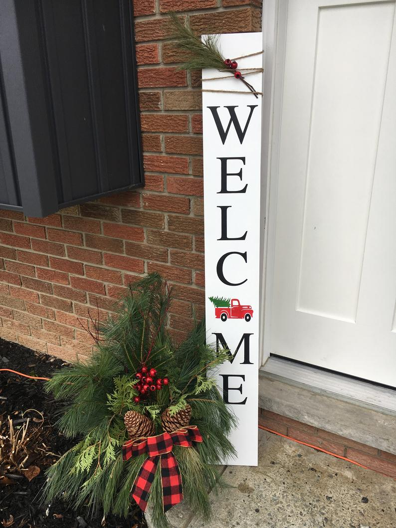 Christmas Welcome Sign Stencil