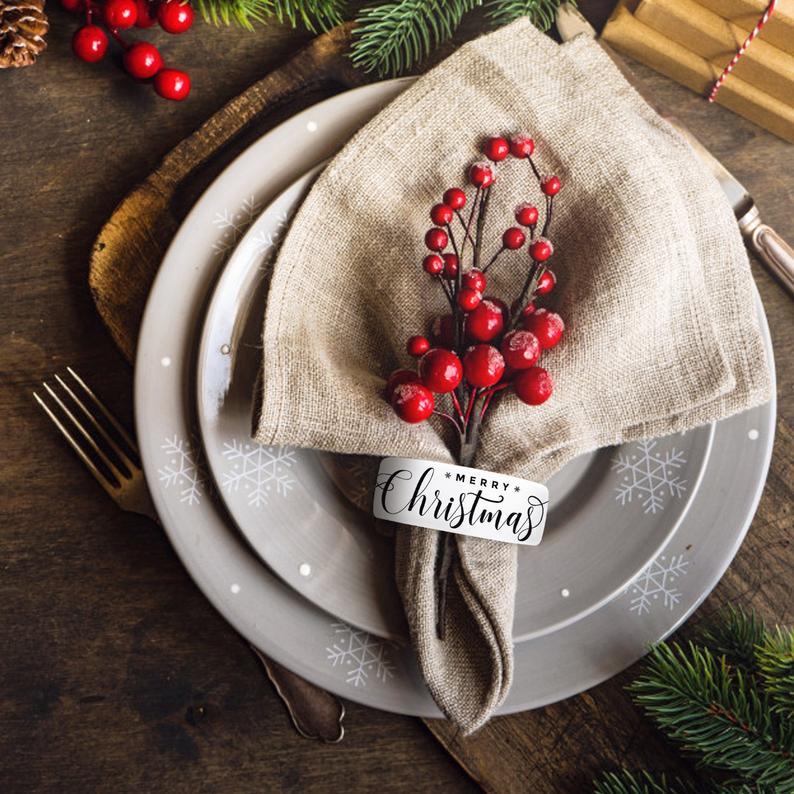 Christmas Napkin Rings Holders