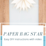 Paper bag star on a door