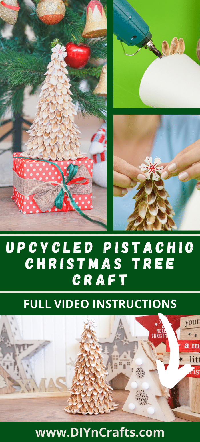 Pistachio Christmas tree DIY instructions