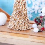 Pistachio Christmas tree on a table