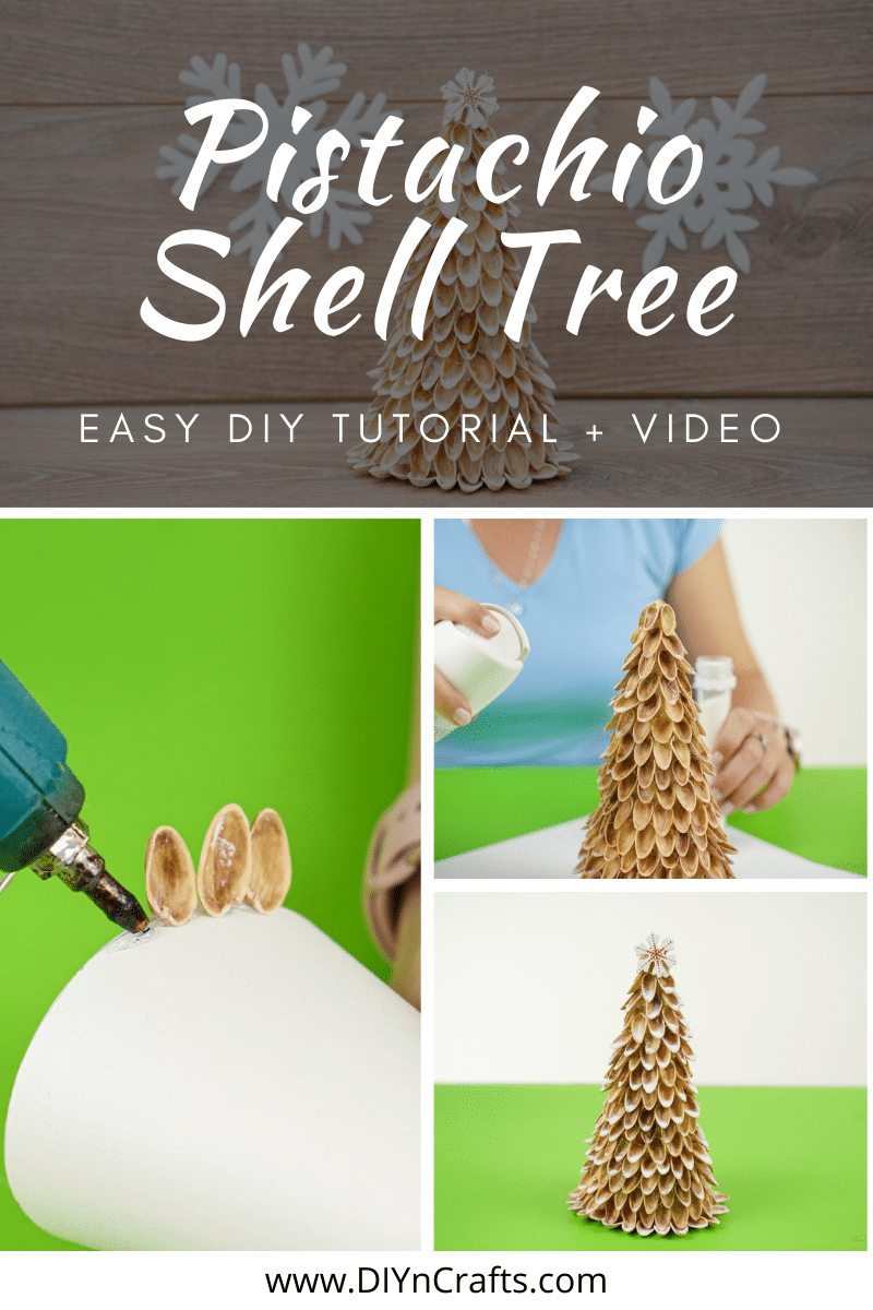 How to make trees out of pistachio shells