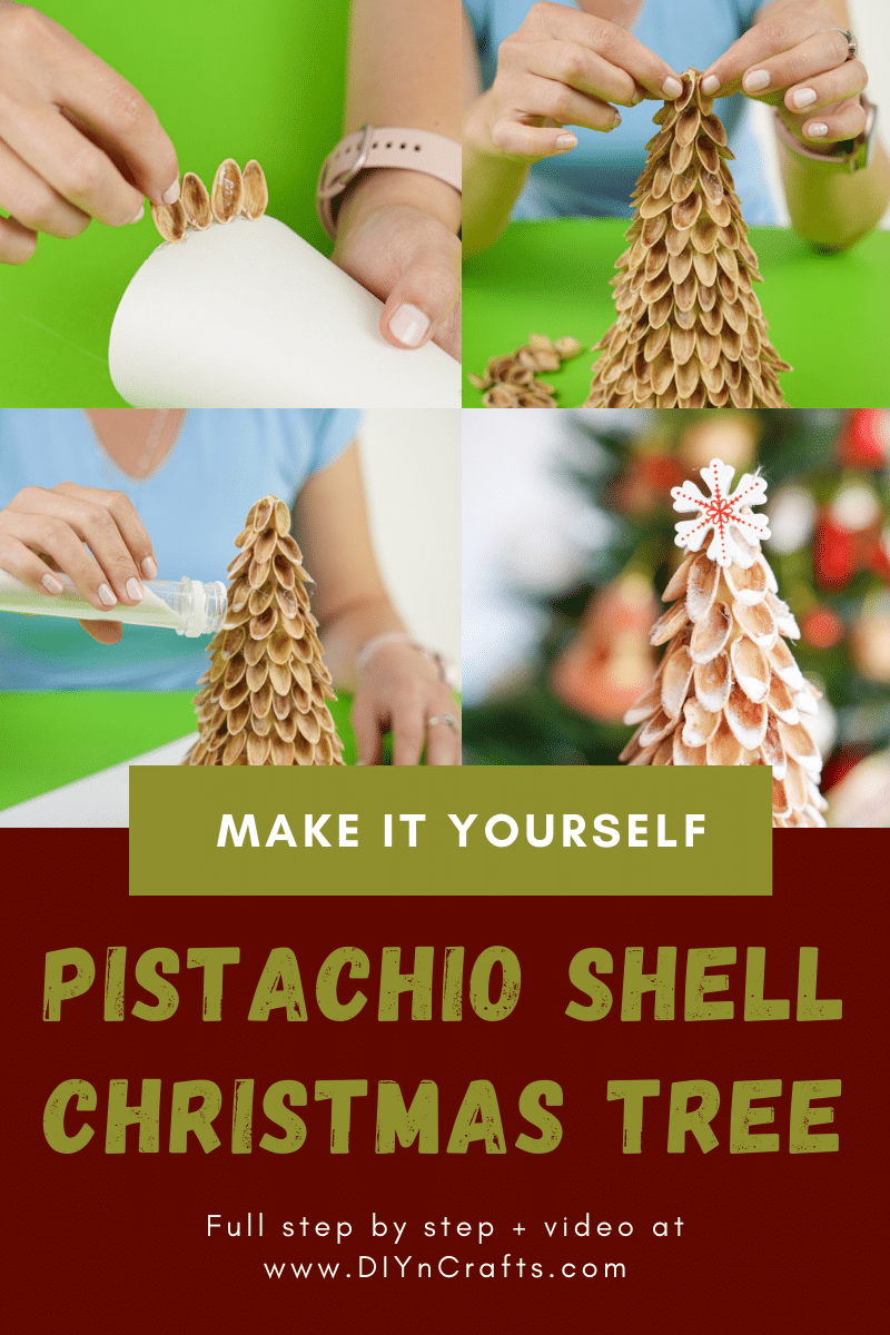 Instructions for making pistachio Christmas tree