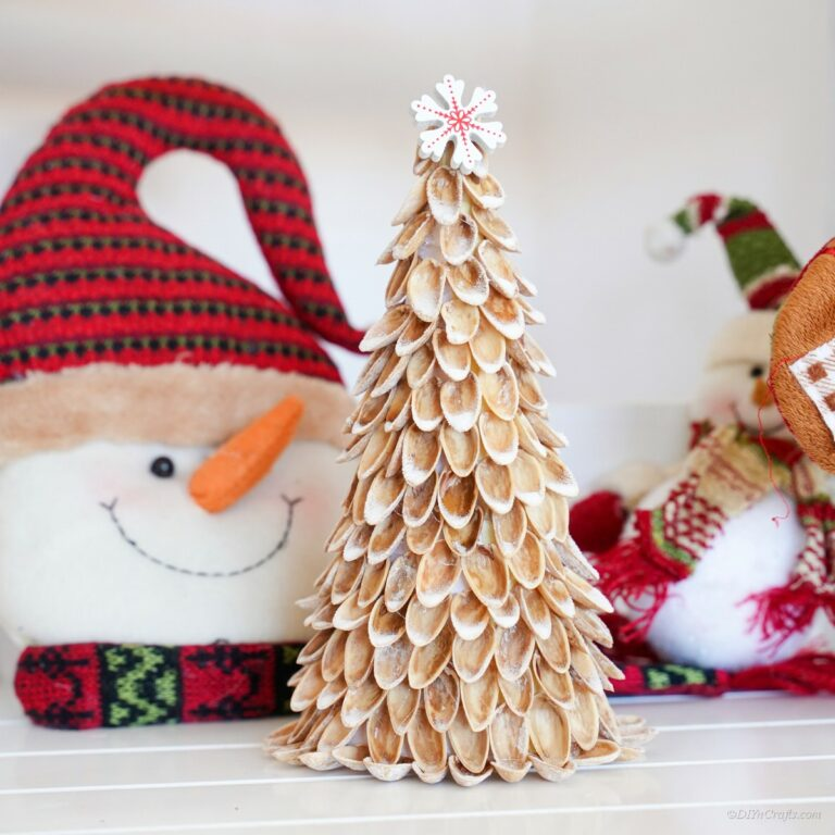 DIY Christmas Tree From Pistachio Shells